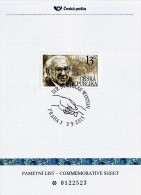 Czech Republic - 2015 - Tribute To Sir Nicholas Winton - Special Numbered Commemorative Sheet With Hologram - Covers & Documents