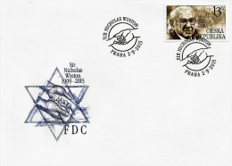 Czech Republic - 2015 - Tribute To Sir Nicholas Winton - FDC (first Day Cover) - FDC