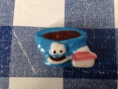 Fève Plate Bol Bleu Et Cuillere Serie Le Petit Dejeuner - Autres