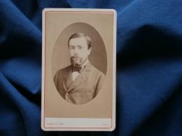 Photo CDV Carette à Lille - Joli Portrait Jeune Homme Barbu,  Circa 1875 L307 - Anciennes (Av. 1900)