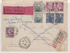 FRANCE PLI AERIEN 1929 POUR SENEGAL  CACHET D'ARRIVEE - Marcophilie (Lettres)