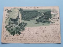 Gruss Aus BINGEN () Anno 1898 ( Zie Foto Voor Details ) !! - Bingen