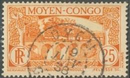 Moyen Congo - Oblitération De Oyem / Gabon Sur N° 120 (YT) N° 121 (AM). - Gebraucht