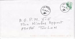 Timbre LV De Carnet CIAPPA  Seul Sur Lettre - Marcophilie (Lettres)