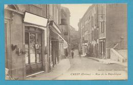 CPA Commerces Rue De La République CREST 26 - Crest