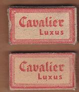 AC - CAVALIER LUXUS DEUTSCHE WERTARBEIT SHAVING RAZOR BLADES 10 BLADES IN UNOPENED BOX - Razor Blades