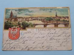 Gruss Aus FRANKFURT A/M / Anno 1902 ( Zie Foto Voor Details ) !! - Frankfurt A. Main
