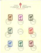 BELGIUM - FDC 10.12.1938 - FEUILLET SOUVENIR ALBERT - COB 488-495 - Lot 15325 - Herdenkingskaarten