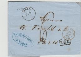 Bad281 / Baden Baden 1861 Nach Paris - Baden