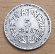 5 FRANCS LAVRILLIER 1946 B EN ALUMINIUM - France