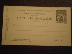 FRANCE TIMBRE CHAPLAIN ENTIER POSTAL PNEU CARTE TELEGRAMME PNEUMATIQUE ENVELOPPE LETTRE PLI ENV - Rohrpost