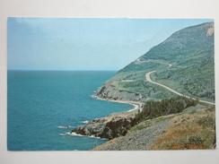 Postcard The Cabot Trail Cape Breton Highlands Nova Scotia Used 1974 My Ref B1999 - Cape Breton
