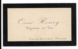 Beauvais Rue Du Pont D'Arcole - Décès De Oscar Henry Négociant En Vins  - Carte Format 6X10cm Env - Obituary Notices