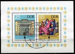 DDR - Michel Block 85 = 3038 / 3039 - OO Gestempelt (C) - Leipziger Herbstmesse 86 - [6] Oost-Duitsland