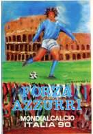 FORZA AZZURRI  Mondiali Calcio Italia '90  Autoadesiva - Football