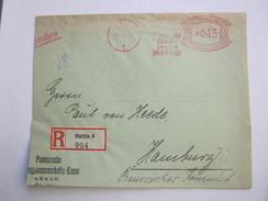 Firmen Freistempel , Meterstempel Auf Beleg Aus   STETTIN  , 1931 ,  , Etwas Verkürzt Und 3seitig Geöffnet , Einschreibe - Deutschland