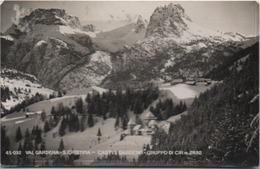 Val Gardena, Santa Cristina (St. Christina In Gröden), Bolzano: Castel Gardena - Formato Piccolo Viaggiata 1953 - Bolzano