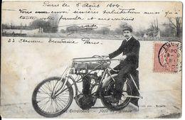 TRANSPORT MOTO MOTOCYCLETTE NOS ENTRAINEUR NASO DE MARSEILLE MONO CYLINDRE ? ECRITE CIRCULEE 1904 DOS NON DIVISE - Moto