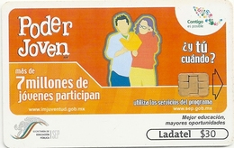 Mexico - Ladatel - Poder Joven - Dos Jovenes Leyendo - P-1641 - 30$, 10.2005, Used - Messico