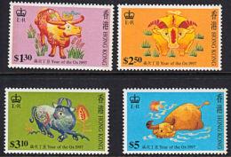 A0950 HONG KONG 1997, SG 879-82 Chinese New Year, P13½   Enschedé Printing,  MNH - Neufs