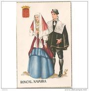 NVRRTP9854CPA-LFTMD6025TCM.Tarjeta Postal De NAVARRA.Trajes Tipicos Del RONCAL  Y Su Valle, En NAVARRA - Cómics