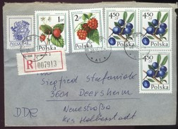Polen R-Brief Szczecin - DDR 3601 Deersheim V. 28.10.1977 A. Mi 2300, 2489, 2491, 3 X 2492 (Rs Poln. Zollstempel) - Briefe U. Dokumente