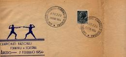 ITALIA - AREZZO 1954 - CAMPIONATI NAZIONALI FEMMINILI SCHERMA 1954 - Scherma