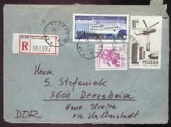 Polen R-Brief Szczecin - DDR 3601 Deersheim V. 17.6.1977 A. Mi 2296, 2438, 2475 (Rs Poln. Zollstempel) - Briefe U. Dokumente