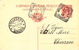 Tipo Leoni - Mill. 14- Bollo Di Novate Mezzola - Sondrio A Cerchio Con Cerchi Concentrici Riquadrati - 1900-44 Victor Emmanuel III
