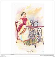 ASIATP2050CPA-LFTMD7880TCMC. Tarjeta Postal De CHINA.Publicidad De Maquina De Coser SINGER - Cómics