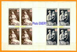 France Carnet Croix-Rouge 1953 N° 2002**LUXE De 4 Paires Des Timbres P 966 Et 967, Vf 12 F +3 F. Portrait De Marie-Louis - Rode Kruis