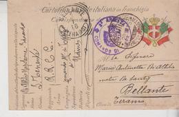 Italia - 1915 - Cartolina Postale In Franchigia - Reali Carabinieri Regi 2° Armata Comando Di Tappa Bellante Teramo Gg - 1900-44 Vittorio Emanuele III