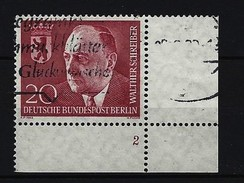 BERLIN - Mi-Nr. 192 Formnummer 2 Gestempelt - Berlin (West)