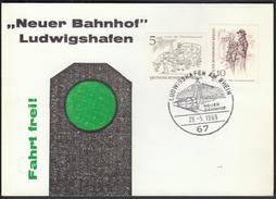 Germany Ludwigshafen Am Rhein 1969 / Trains / Railway / Locomotive / DB Bahnhof / Railway Station - Trains