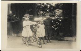 151 Rue Ordener 1934 Paris 18e Devanture Magasin Fleuriste Enfant Trottinette Carte Photo 2scans - Arrondissement: 18