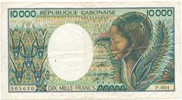 10000 Francs - République Gabonaise - TB, 2 Scans - Gabon