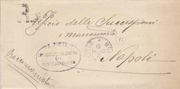 Montescaglioso. 1901. Annullo Grande Cerchio Su Raccomandata In Franchigia + Ovale UFFICIO REGISTRO + Testo - Marcofilie