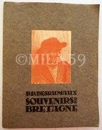Pierre Paul Desrumaux. Lille. Plaquette Brochée Sous Chemise N° 18. Souvenirs De Bretagne. - Lithographies