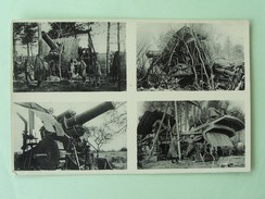 "LA GROSSE BERTHA , Cliché Original Du Mortier Calibre 42cm "" La Grosse Bertha"" Devant Verdun ;Ausstellung ""Dicke Berta "" - Verdun"