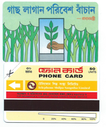BANGLADESH 1993 - 1st Card 50u Hand Planting A Tree MINT URMET NEUVE