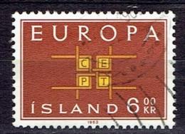 Iceland 1963  -  Europe Stamps -  Y&T 328  Mi. 374  -  Used, Oblit., Gest. - 1944-... Republik