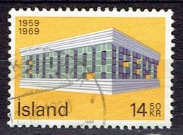 Iceland 1969  -  Europe Stamps -  Y&T 384  Mi. 429  -  Used, Oblit., Gest. - 1944-... Republik