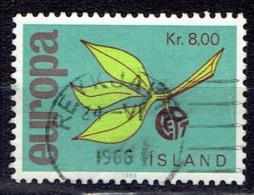 Iceland 1965  -  Europe Stamps -  Y&T 351  Mi. 396  -  Used, Oblit., Gest. - 1944-... Republik