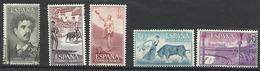 Espagne PA N° 277 Oblitéré Et PA N° 278 à 281 Neufs  Sans Charnière De 1956 POSTE AERIENNE - Taureau - Neufs