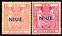 10551 Niue 73A + 73B Tipo B Selos Fiscais Sobretaxados Nn - Niue