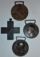 4 DIVERSE MEDAGLIE ORIGINALI IN BRONZO GUERRA 1914-1918 CONSERVAZIONE OTTIMA - Italia