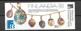 1988 MNH  Booklet, Finland MH 21, Postfris**
