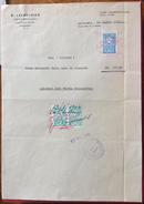 ISTAMBUL1948 FORNITURE NAVALI B.LAZAROVICH  PIROSCAFO CICLOPE  CONTO VIVERI  FATTURA  CON REVENUE  MARCA DA BOLLO - Altri
