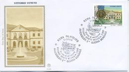 ITALIA - FDC  FILAGRANO GOLD 1995 -  VITTORIO VENETO - AVVENIMENTI SECONDA GUERRA MONDIALE - F.D.C.