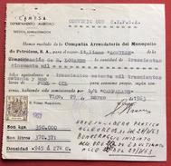"""SPAGNA VIGO DEPARTIMENTO MARITTIMO  PETROLIO VAPORE """"  RICEVUTA CON   REVENUE MARCA DA BOLLO - Espagne"""